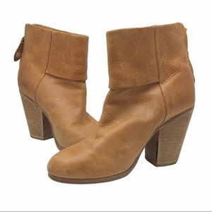 Rag & Bone Camel Leather Newbury Ankle Booties